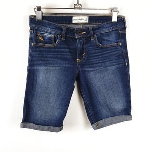 Abercrombie Kids | Dark Wash Bermuda Jean Shorts